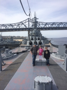 You can see how big the battleship is in this picture